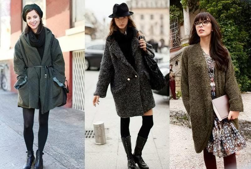 з чим носити пальто кокон