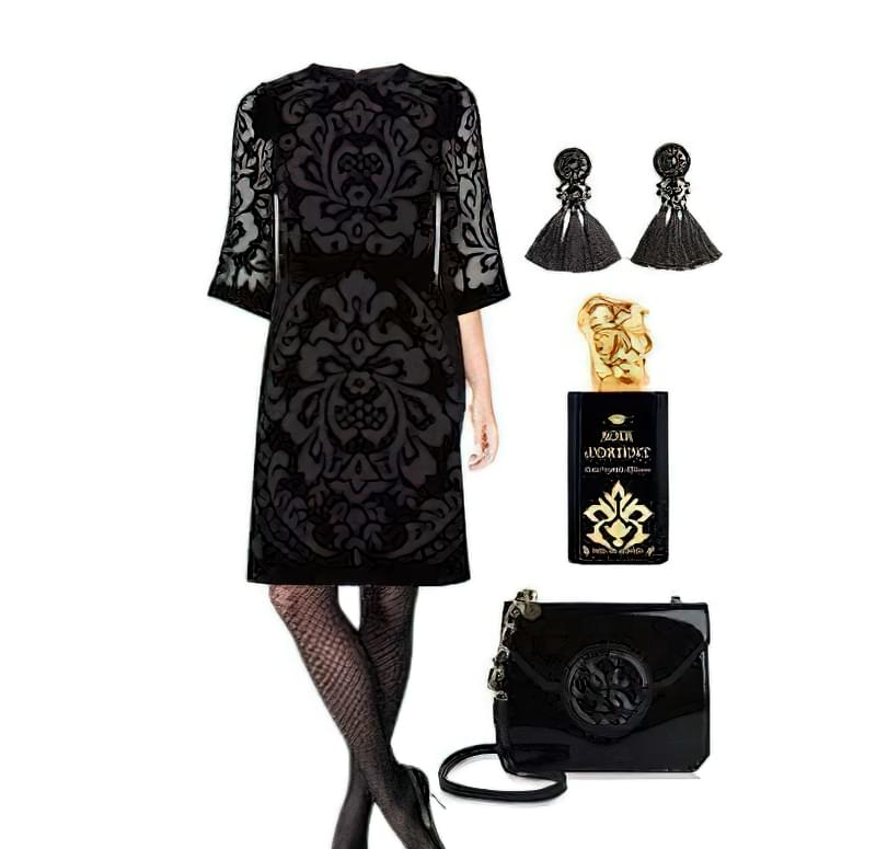 чорні колготки в сітку з чим носити 1
