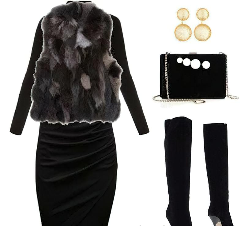 спідниці-міді з чим носити взимку