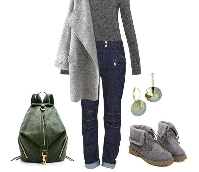 з чим носити джинси-бойфренди взимку