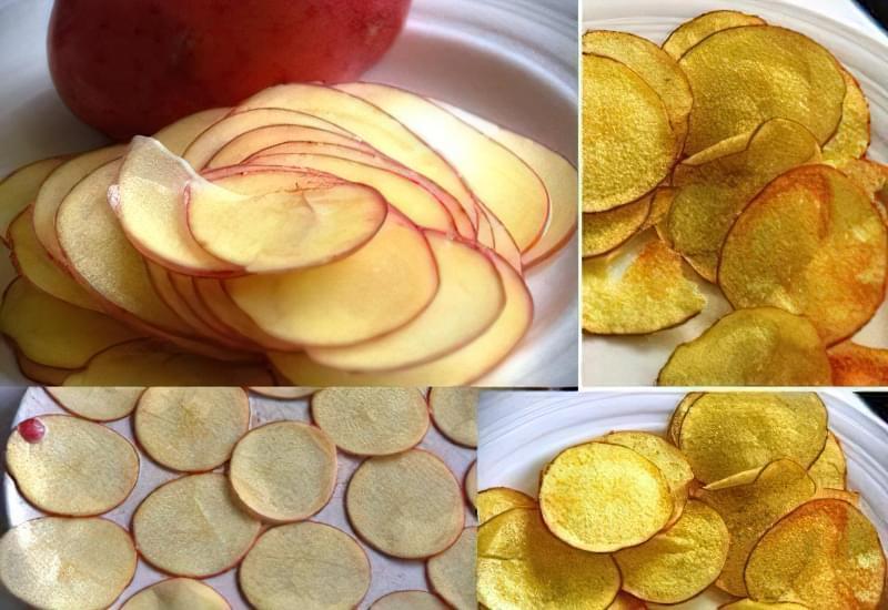 картопляні чіпси в мікрохвильовці