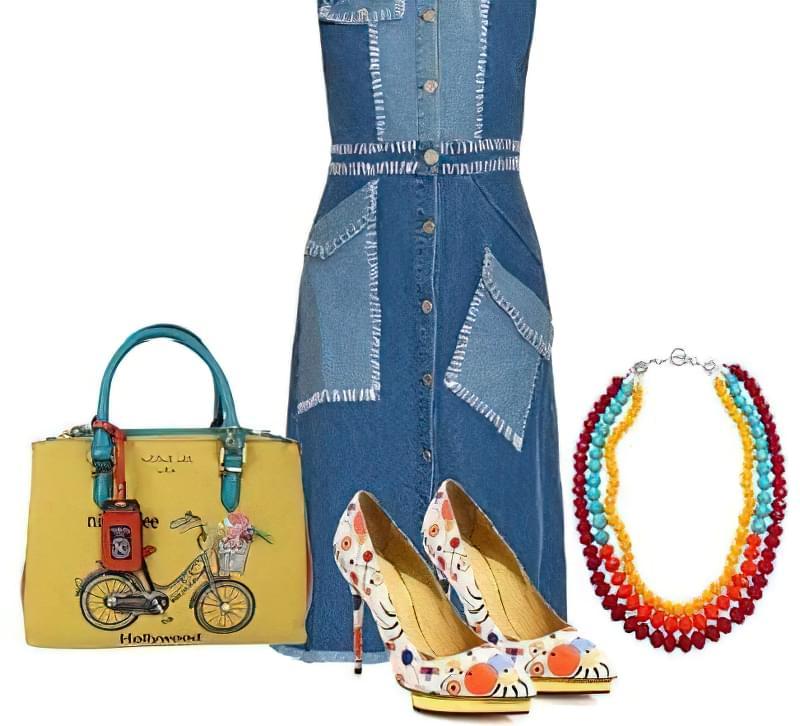 джинсове плаття levis носити