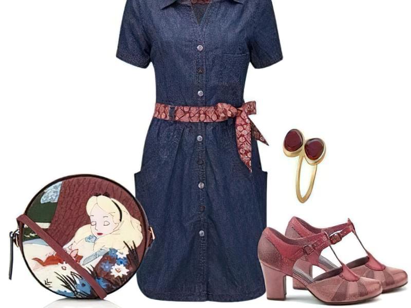 джинсове плаття можна носити з поясом