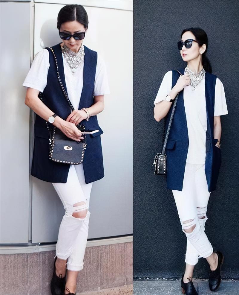 з чим можна носити рвані джинси