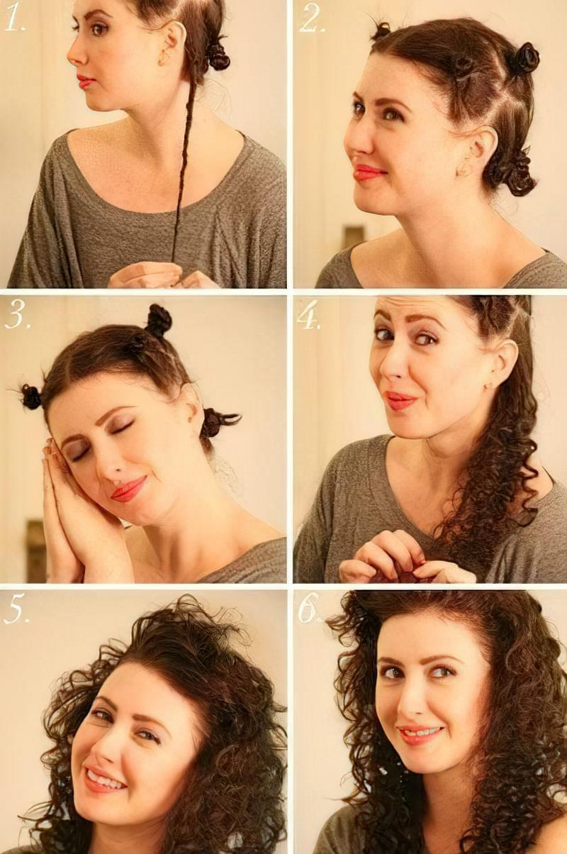 накрутити волосся без бігуді плойки