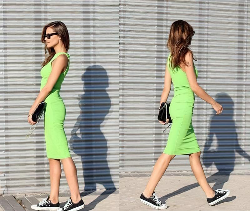 з яким взуттям носити плаття майку