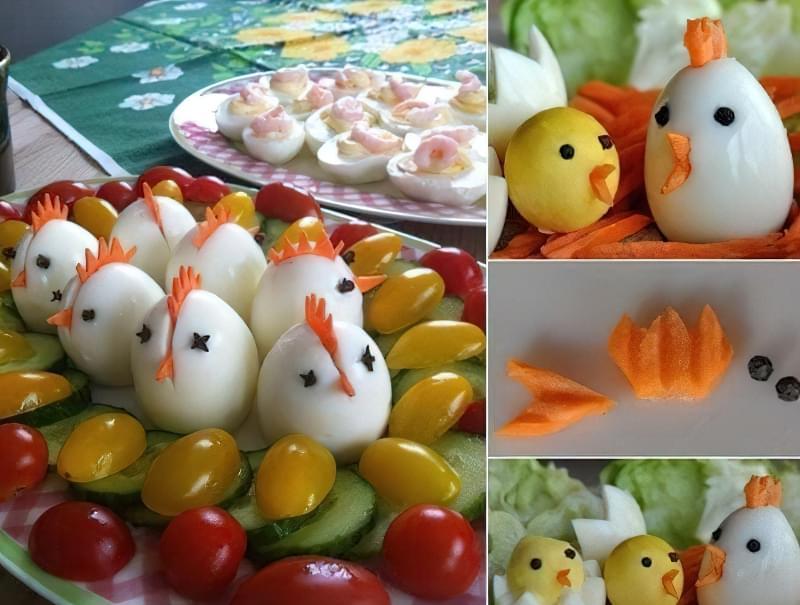 нарізати яйця кубиками