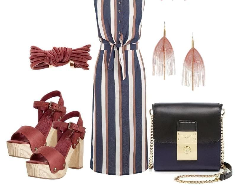 носити сукні вертикальну смужку