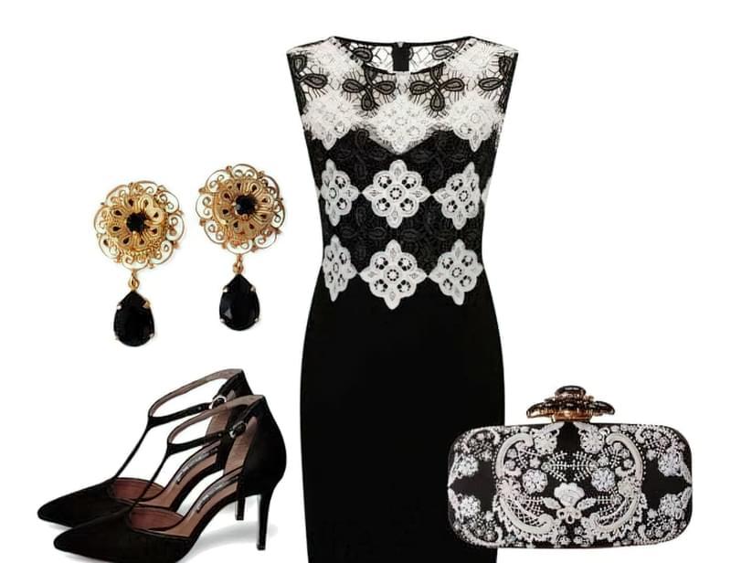 чорно біле плаття з чим носити