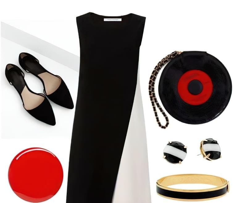 яке взуття носити з біло чорним платтям