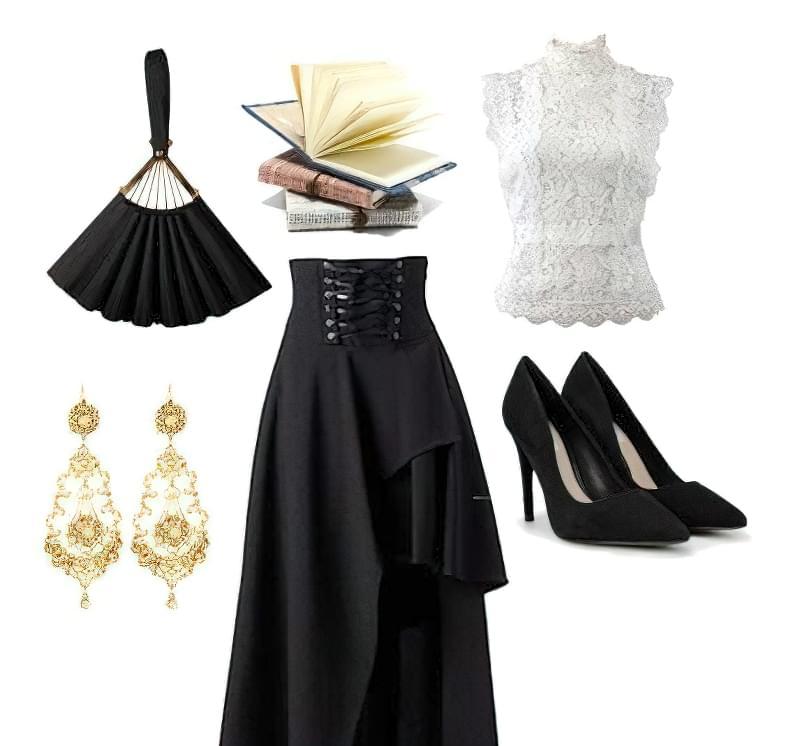 вікторіанський стиль в одязі жінки