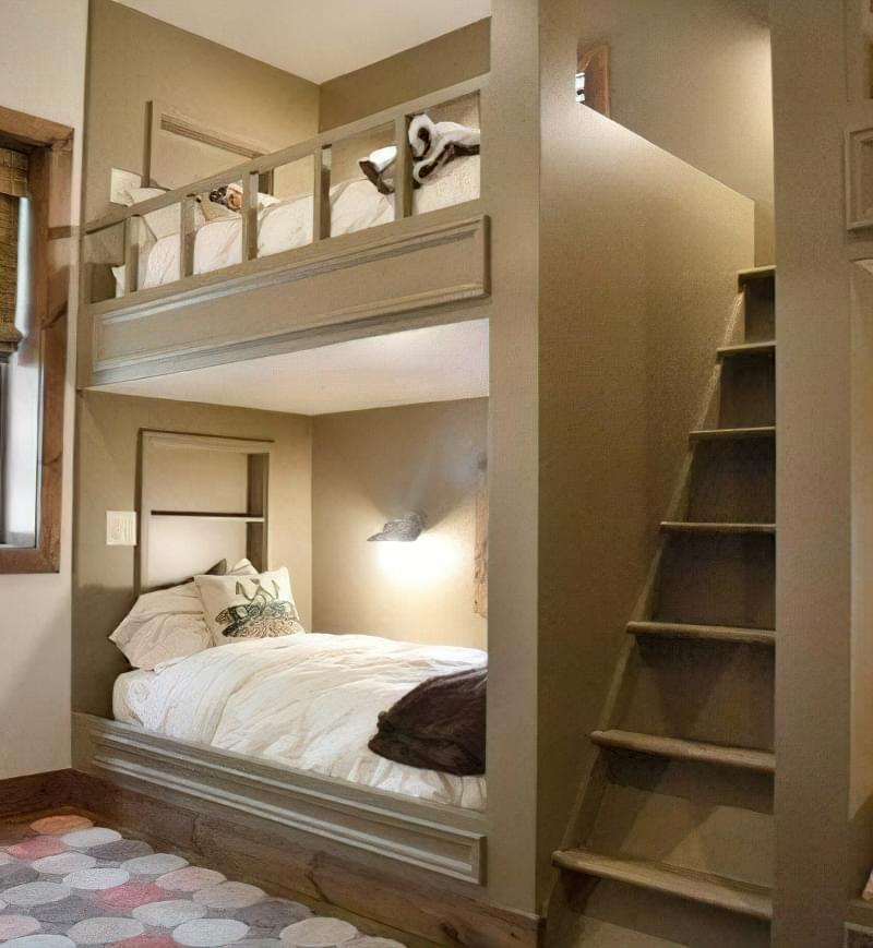 двохярусне ліжко для дітей і дорослих