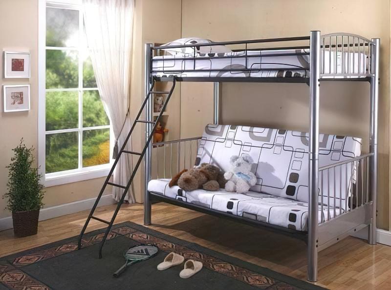 ліжко двохярусне доросле металеве