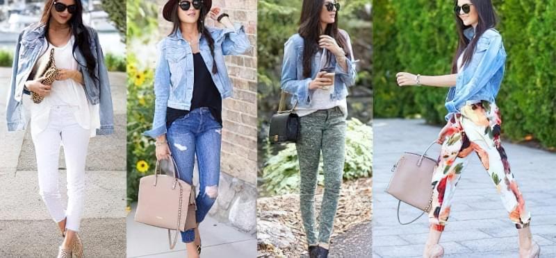 з чим носити коротку джинсову куртку