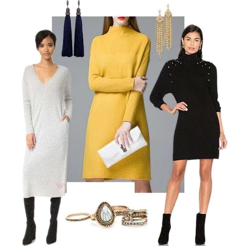 плаття светр з чим носити