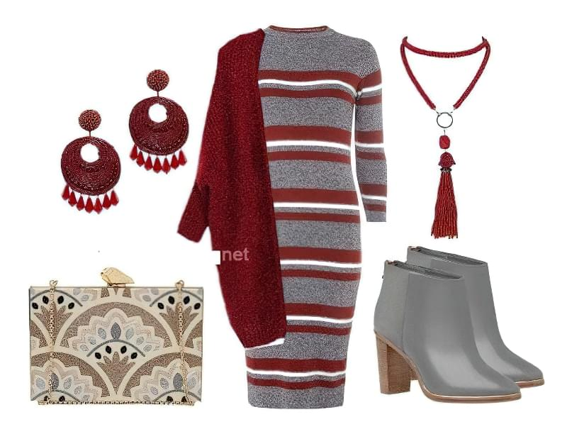 плаття міді облягає з чим носити