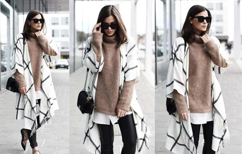 шарф-пончо як носити