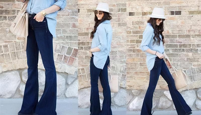 З чим носити джинси кльош? 1