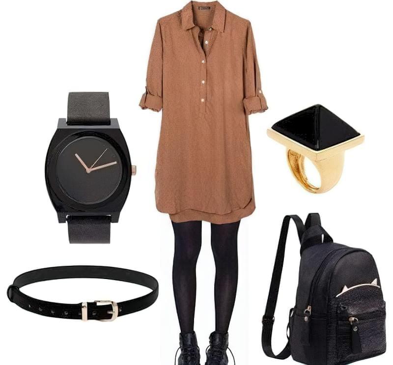 З чим носити довгу сорочку-плаття