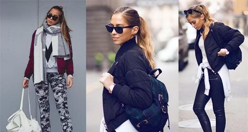 Як правило, до рюкзака підбирається взуття в спортивному стилі, але можливі і варіанти