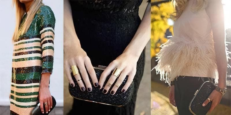 Можна обіграти відтінок одного металу в сумочці і прикрасах