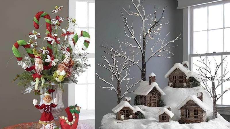 Дітям напевно сподобаються новорічні композиції з засніженими будиночками