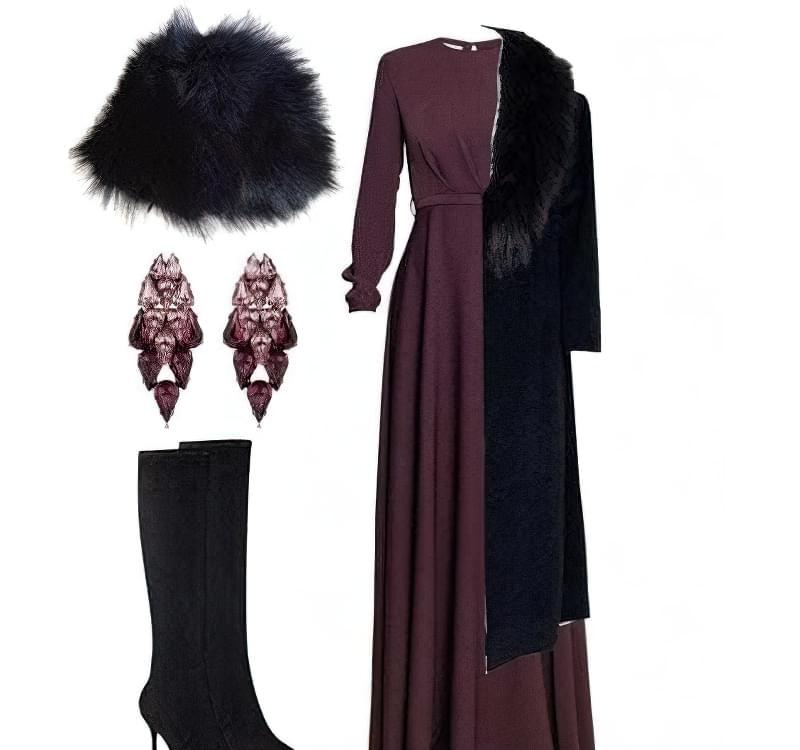 З чим носити довге чорне пальто?