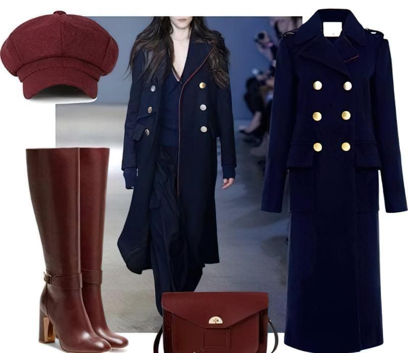 З чим носити пальто-шинель до коліна?