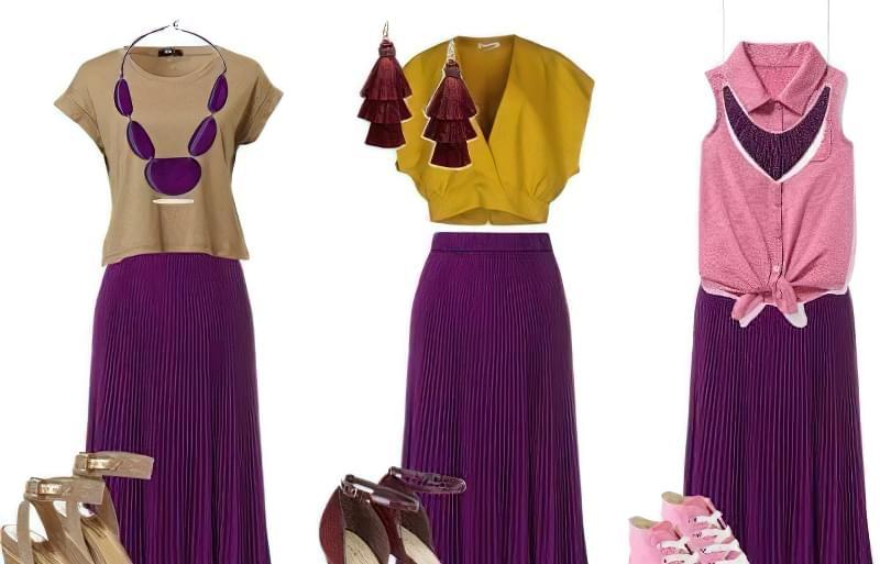 C чим краще поєднується фіолетовий колір в одязі? 3
