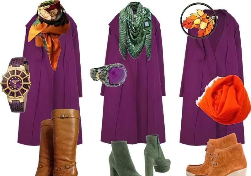 C чим краще поєднується фіолетовий колір в одязі? 5