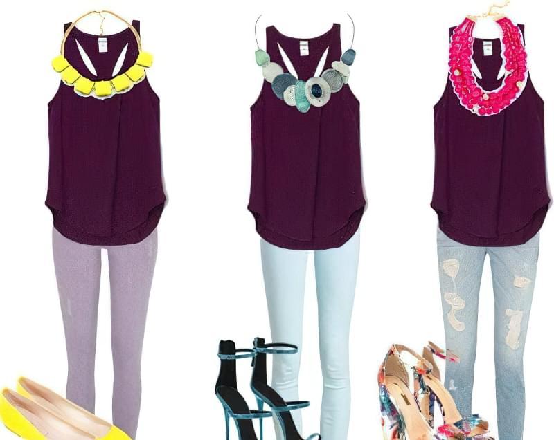 C чим краще поєднується фіолетовий колір в одязі? 6