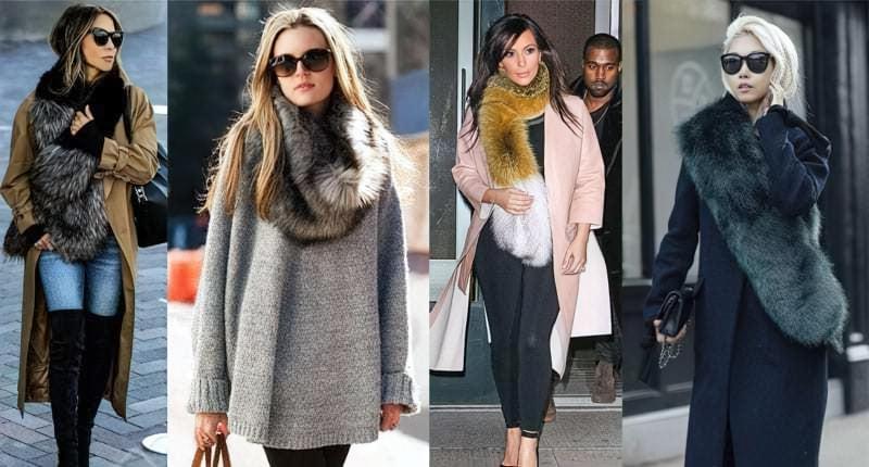 Хутряні шарфи і горжетки: як їх носити? 2