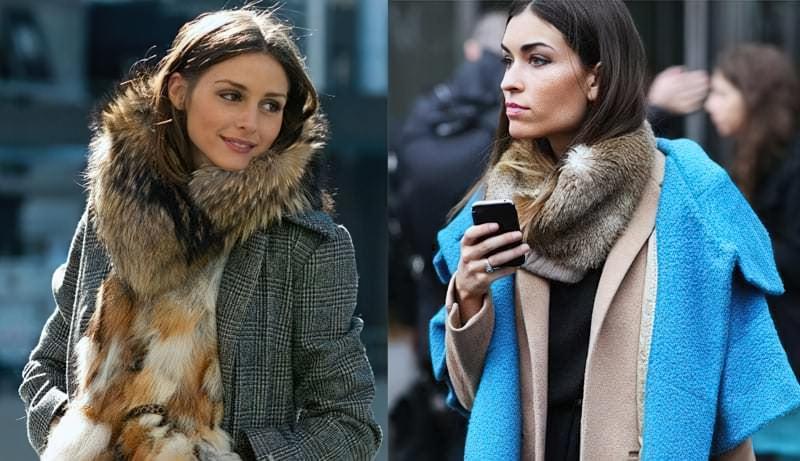 Хутряні шарфи і горжетки: як їх носити? 1