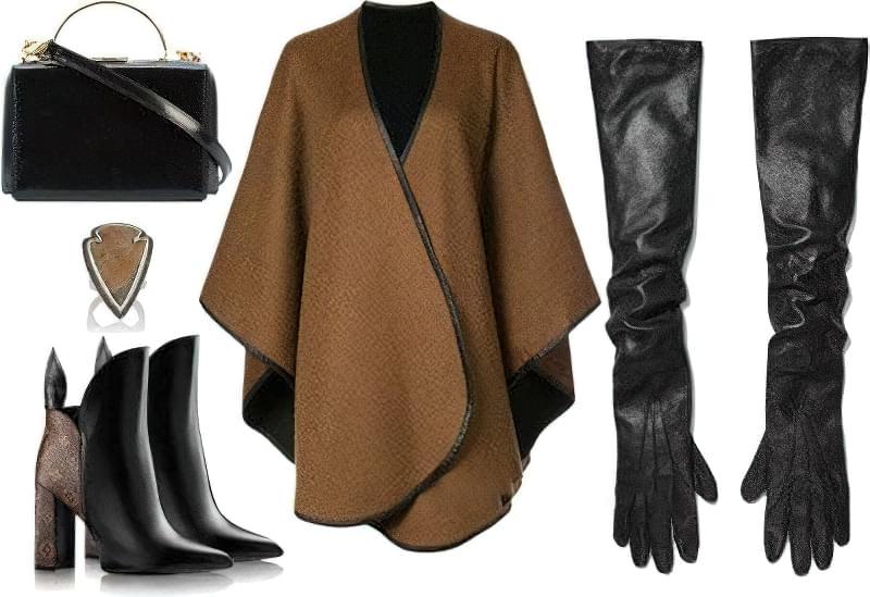 З чим правильно носити довгі рукавички? 3