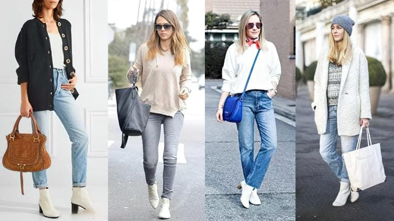 Модний тренд: білі ботильйони! З чим їх носити? 6