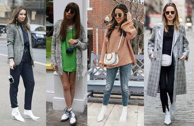 Модний тренд: білі ботильйони! З чим їх носити? 7