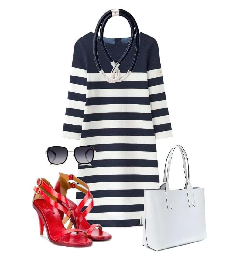 Плаття в смужку: як і з чим його можна носити? 3