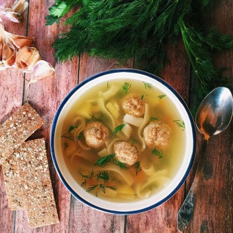 SHvydkyj sup z frykadelkamy