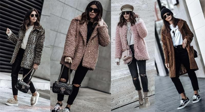 З чим можна носити модне пальто з штучного хутра? 4