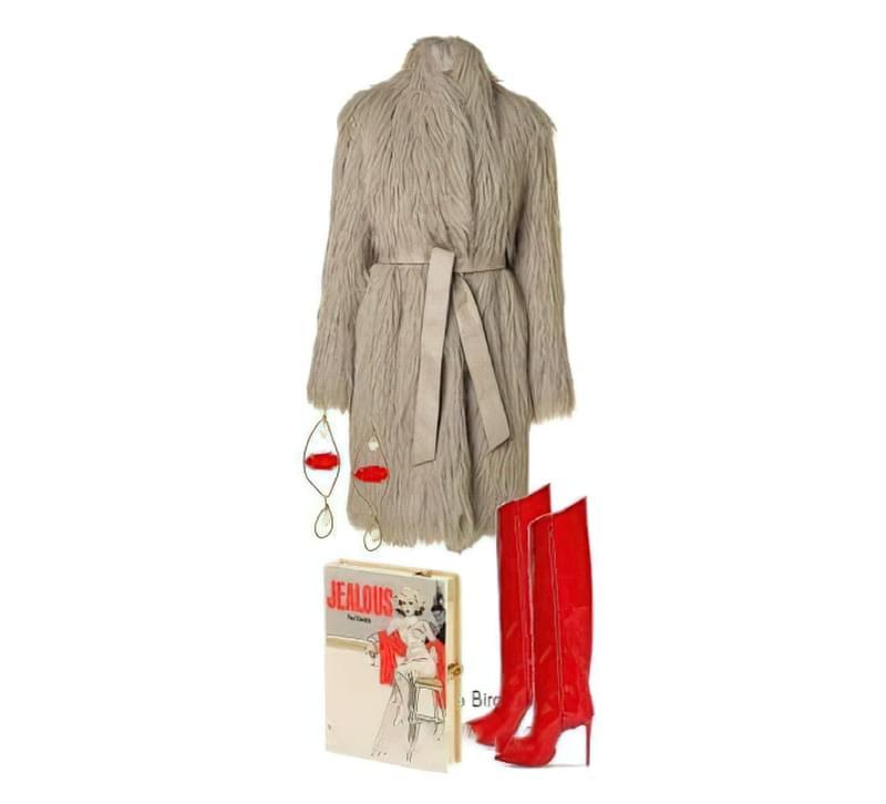 З чим можна носити модне пальто з штучного хутра? 5