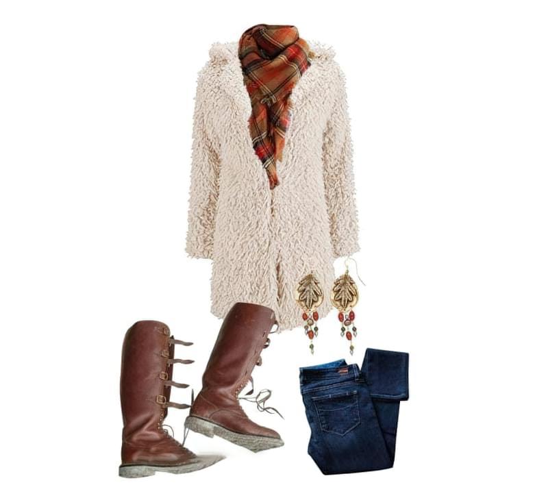 З чим можна носити модне пальто з штучного хутра? 6