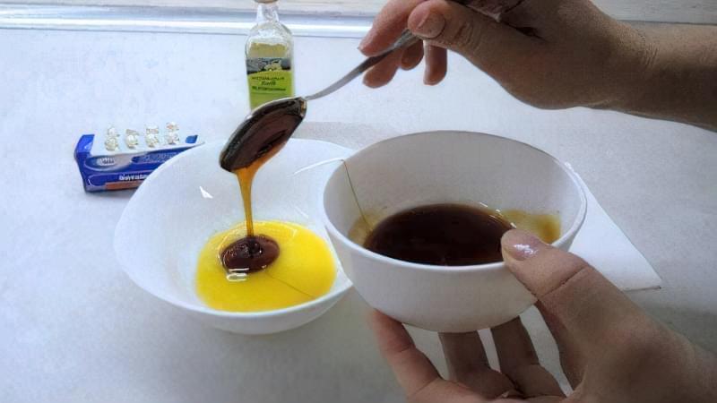 Масляний склад з вітамінами