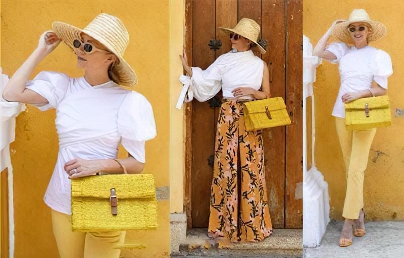 З чим носити жовту сумку? 2