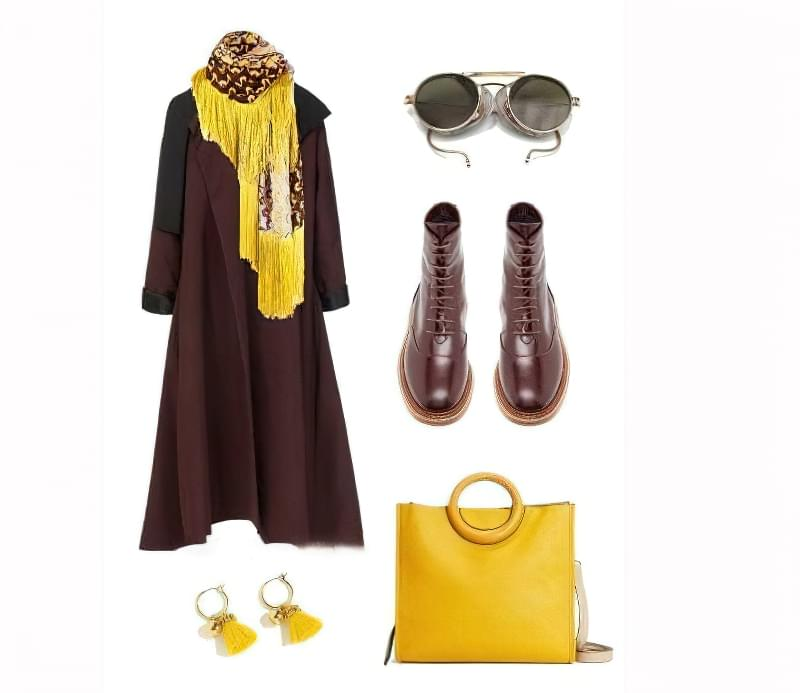 З чим носити жовту сумку? 5