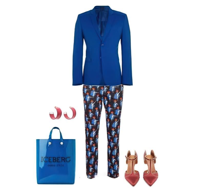 З чим носити жіночий піджак синього кольору? 4