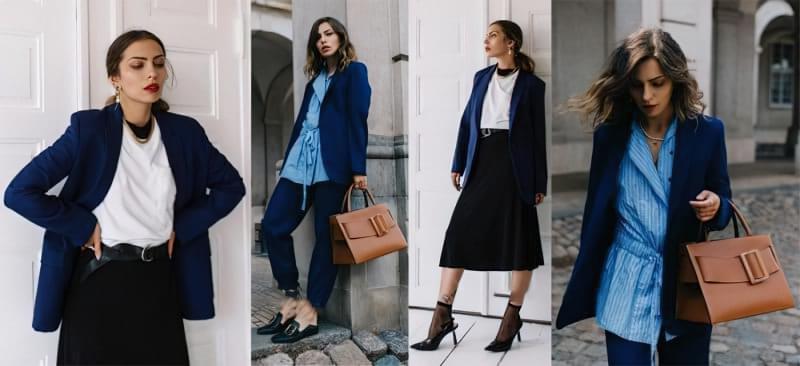 З чим носити жіночий піджак синього кольору? 1