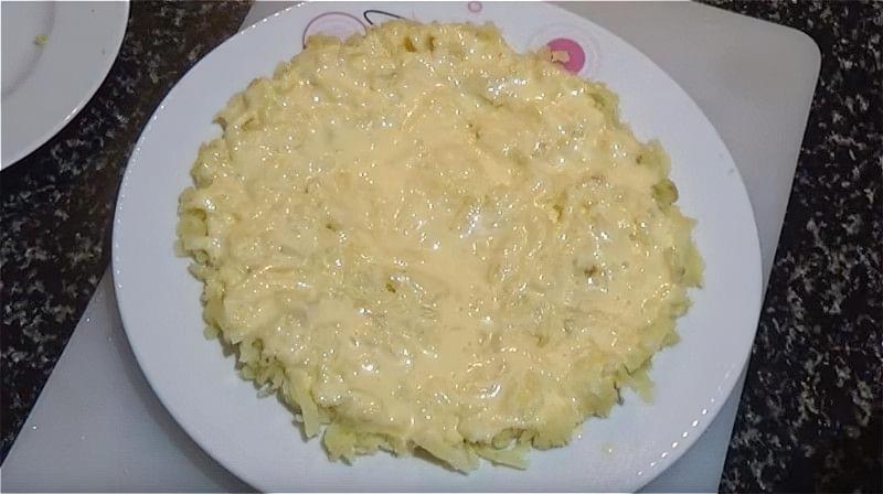 Перший шар мімози - картопля