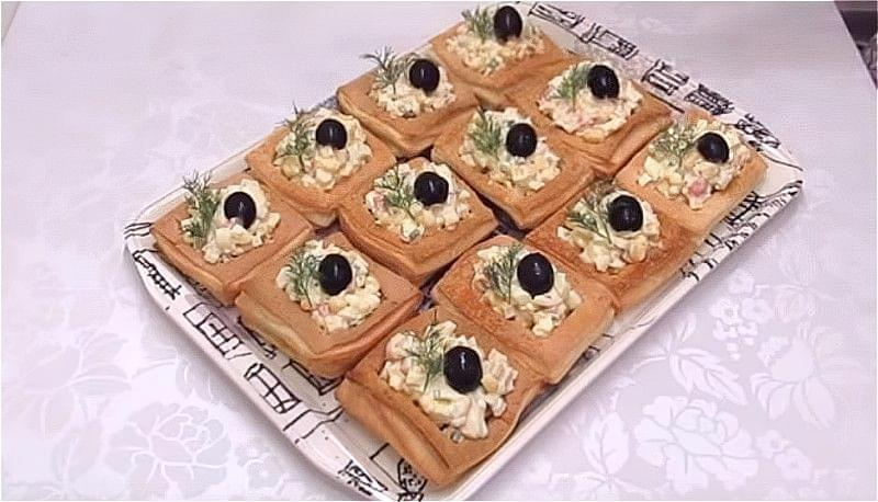 закуска на Новий Рік з листкового тіста