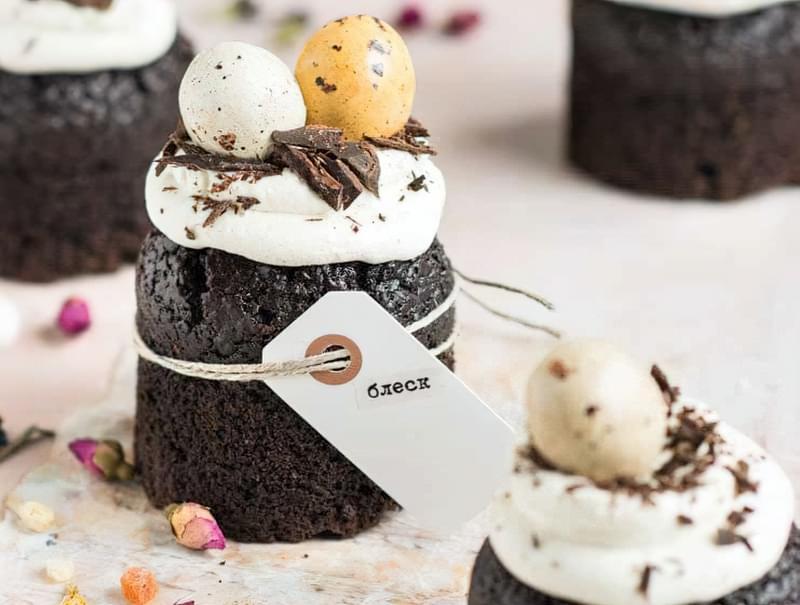 """Рецепти пасхальної випічки: шоколадні кекси """"Великодній заєць"""" 2"""