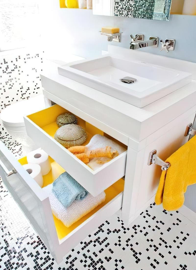 Навісна раковина для візуального розширення ванної кімнати